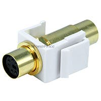 Product Image for Keystone Jack - PS/2 F/F, Flush Type (White)