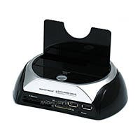 Product Image for SATA HDD Docking Station w/ Card Reader & 2 Port USB Hub (USB+E-SATA)