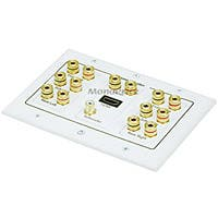 Product Image for 3-Gang 7.1 Surround Sound Distribution Wall Plate w/ HDMI 
