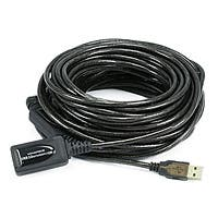 Product Image for 49ft 15M USB 2.0 A Male to A Female Active Extension / Repeater Cable (Kinect & PS3 Move Compatible Extension)