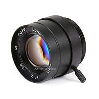 1/3 Inch 4mm IR F1.2 Fixed Iris CS Mount Lens W/IR Correction