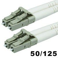 Product Image for 10Gb Fiber Optic Cable, LC/LC, Multi Mode, Duplex - 35 Meter (50/125 Type) - Aqua