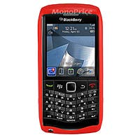 "Product Image for Polished Finish TPU Case for Blackberry ""Pearl"" 9100 - Red"