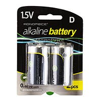 D Cell Alkaline Battery 2-Pack