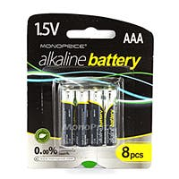 AAA Alkaline Battery 8-Pack