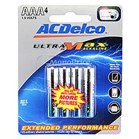 Product Image for ACDelco Ultra-Max AAA Alkaline Battery 4-Pack