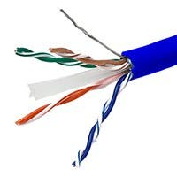 Product Image for 1000FT Cat 6 Bulk Bare Copper Ethernet Network Cable STP, Solid, In-Wall Rated (CMG), 550MHz, 24AWG - Blue 