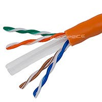 Product Image for 1000FT 23AWG Cat6 500MHz UTP Solid, Riser Rated (CMR), Bulk Ethernet Bare Copper Cable - Orange
