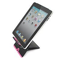 Product Image for X-Form Foldable Desktop Stand for all iPad® and Other Tablets - Black w/ Pink Trim