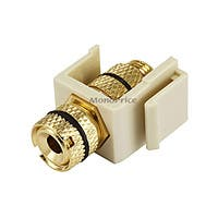 Product Image for Keystone Jack - Banana Jack w/Black Ring (Screw Type) - Ivory