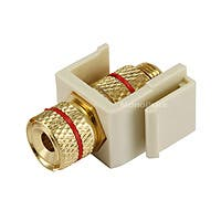 Product Image for Keystone Jack - Banana Jack w/Red Ring (Screw Type) - Ivory