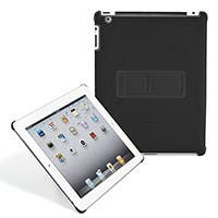 Product Image for Polycarbonate & Synthetic Leather Stand Case for iPad® 2 - Black