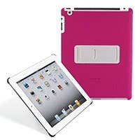 Product Image for Polycarbonate & Synthetic Leather Stand Case for iPad 2 - Pink