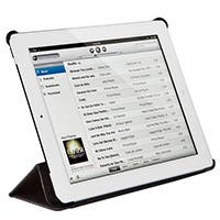 Product Image for Synthetic Leather Stand/Cover with Magnetic Latch for iPad� 2 - Black