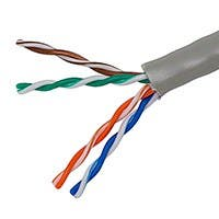 Product Image for 1000FT 24AWG Cat5e 350MHz UTP Solid, Riser Rated (CMR), Bulk Ethernet Bare Copper Cable - Gray