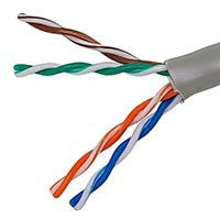 Product Image for  1000FT 24AWG Cat5e 350MHz UTP Stranded, In-Wall Rated (CM), Bulk Ethernet Bare Copper Cable - Gray