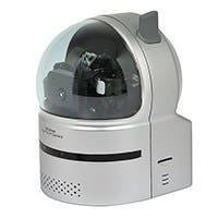 Product Image for Plug & Play Wireless Pan, Tilt, and Zoom Network IP Camera w/ Audio - MPEG4
