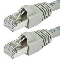 35FT 24AWG Cat6A 500MHz STP Bare Copper Ethernet Network Cable - Gray