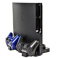 Charging Station & Stand for PS3 Slim / PS Move - Black