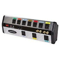 Product Image for 10 Outlet Home Theatre Power Center w/ Data and Video Protection - 3245 Joules