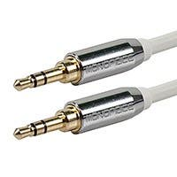 Product Image for 3ft Designed for Mobile 3.5mm Stereo Male to 3.5mm Stereo Male (Gold Plated) - White