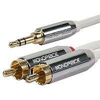 Product Image for 3ft Designed for Mobile 3.5mm Stereo Male to RCA Stereo Male (Gold Plated) - White