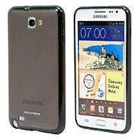 Polycarbonate Case w/TPU bumper Samsung Galaxy Note(International Edition) -Charcoal/Black