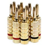 Product Image for 5 PAIRS Of High-Quality Copper Speaker Banana Plugs - Closed Screw Type