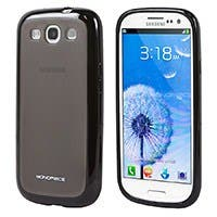 Polycarbonate case w/TPU bumper Samsung Galaxy SIII -Charcoal/Black