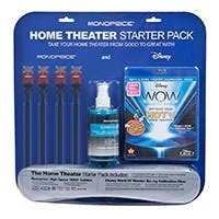 Product Image for Monoprice Home Theater Starter Kit Including Disney WOW: World of Wonder Calibration BluRay Single Disc