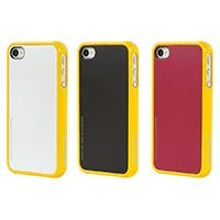 Product Image for 4 Piece Modular Color Case for iPhone 4/ 4S - Yellow with Black, White, Red