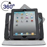 Product Image for 360� Swivel Stand and Cover for all 9.7-inch iPad� - Black with Gray
