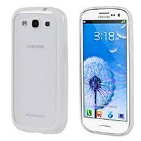 Polycarbonate case w/TPU bumper Samsung Galaxy SIII -Frosted/White