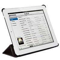 Synthetic Leather Stand/Cover with Magnetic Latch for iPad® 2, iPad 3, iPad 4 - Black