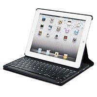Keyboard Folio w/ Mechanical Keys for iPad® 2, iPad 3, iPad 4 - Black with Black Keys