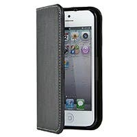 Leatherette Stand/Cover for iPhone® 5/5s/SE - Black