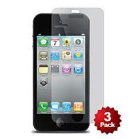 Screen Protector (3-Pack) w/ Cleaning Cloth for iPhone® 5/5s/5c - Transparent Finish