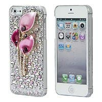 Product Image for Pink Calla Lilies Crystal 3D Diamante Cover for iPhone 5