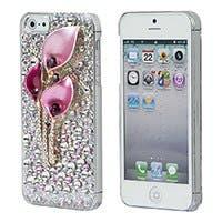 Pink Calla Lilies Crystal 3D Diamante