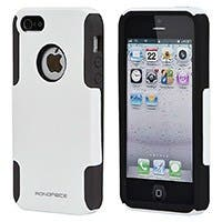 Dual Guard PC+Silicone Case for iPhone® 5/5s - White