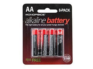 Product Image for Monoprice AA Alkaline Battery, 8-Pack