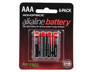 Product Image for Monoprice AAA Alkaline Battery, 8-Pack