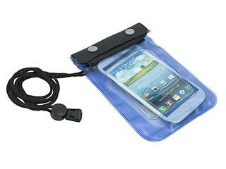 Product Image for Water Resistant/ WeatherProof Pouch for all iPhone®, and most SmartPhones - Blue/ Black