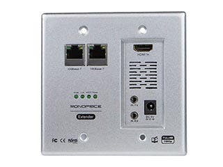 Product Image for HDBaseT™ Wall Plate Extender w/ Bidirectional IR Repeater - 100m (328ft)