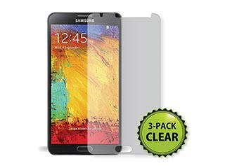 Product Image for Screen Protector (3-Pack) w/ Cleaning Cloth for Samsung Galaxy Note® 3 - Transparent Finish