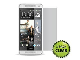 Product Image for Screen Protector (3-Pack) w/ Cleaning Cloth for HTC One™ Mini - Transparent Finish