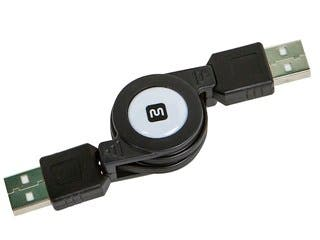 Product Image for USB 2.0 Retractable Cable - A Male to A Male - 2.5