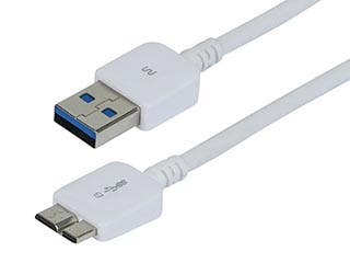 Product Image for Ultra Slim Series USB 3.0 Cable, A Male to Micro B Male, 1 Ft White