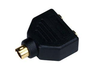 Product Image for Video Splitter - S-Video to 2 x S-Video (MDIN4M/MDIN4F X2) Splitter