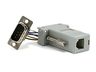 Product Image for DB9M/RJ-12,Modular Adaptor